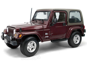 Jeep Wrangler TJ Safari 1:18 Scale - Maisto Diecast Model Car (Maroon)