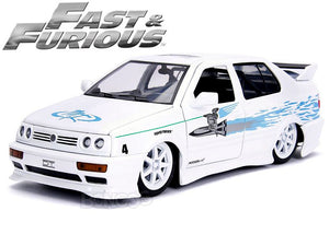 """Fast & Furious"" Jesse's 1995 VW Jetta A3 1:24 Scale - Jada Diecast Model Car (White)"