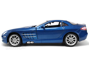 Mercedes-Benz SLR McLaren 1:18 Scale - Maisto Diecast Model Car (Blue)