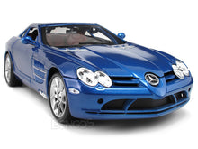 Load image into Gallery viewer, Mercedes-Benz SLR McLaren 1:18 Scale - Maisto Diecast Model Car (Blue)