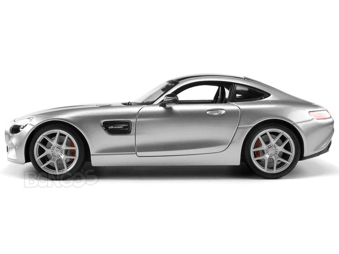 Mercedes-Benz AMG GT 1:18 Scale - Maisto Diecast Model Car (Silver)