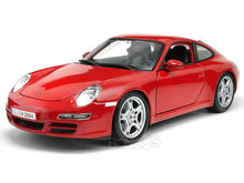 Load image into Gallery viewer, Porsche 911 (997) Carrera S 1:18 Scale - Maisto Diecast Model Car (Red)