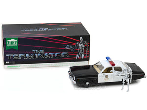 """The Terminator"" 1977 Dodge Monaco Metropolitan Police w/ Figure 1:18 Scale - Greenlight Diecast Model"