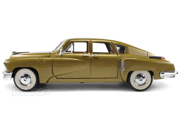 1948 Tucker Torpedo 1:18 Scale - Yatming Diecast Model Car (Gold)