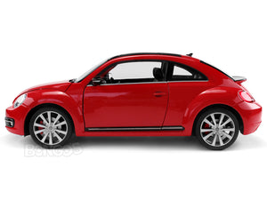 VW Beetle (A5) 1:18 Scale - Welly Diecast Model Car (Red)