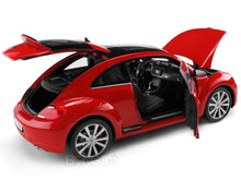 Load image into Gallery viewer, VW Beetle (A5) 1:18 Scale - Welly Diecast Model Car (Red)