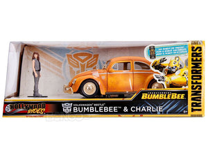 """TRANSFORMERS"" - Bumblebee VW Bug w/ Charlie Figure 1:24 Scale - Jada Diecast Model"