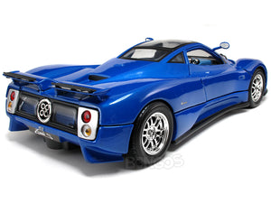 Pagani Zonda C12 1:18 Scale - MotorMax Diecast Model Car (Blue)