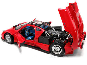 Pagani Zonda C12 1:18 Scale - MotorMax Diecast Model Car (Red)