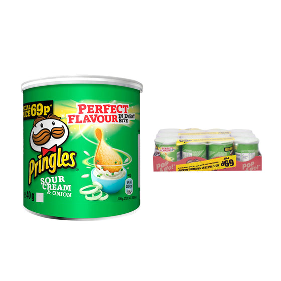 Pringles Mini Sour Cream & Onion Crisps