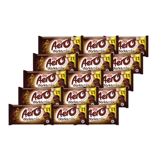 Nestle Aero Dark & Milk Bubbly Block