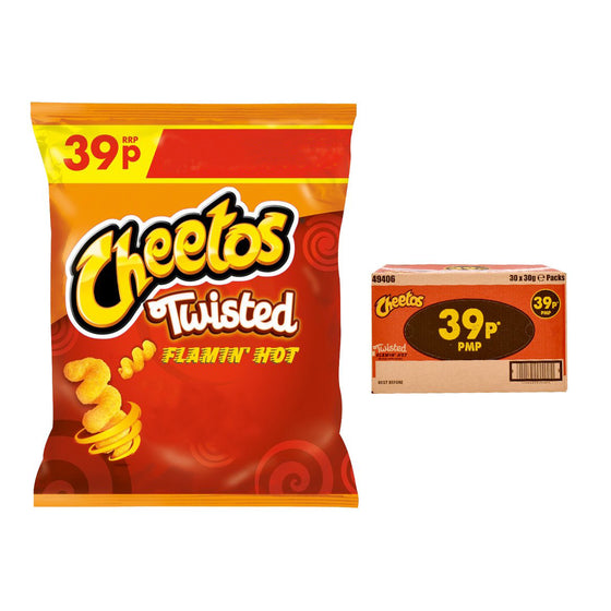 Walkers Cheetos Twisted Flamin Hot Crisps