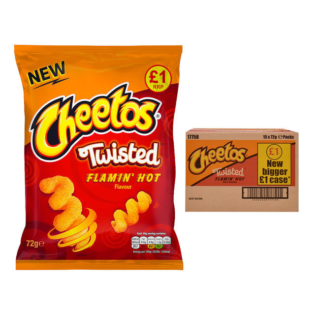 Cheetos Twisted Flamin Hot Crisps