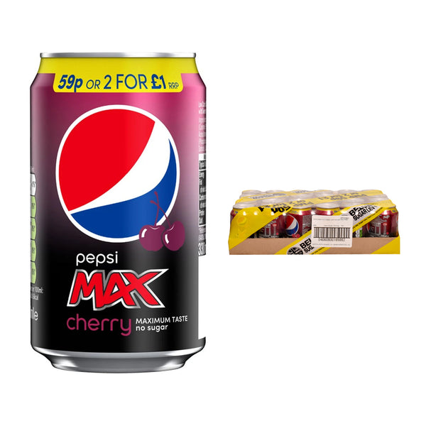 Pepsi Max Cherry Cans