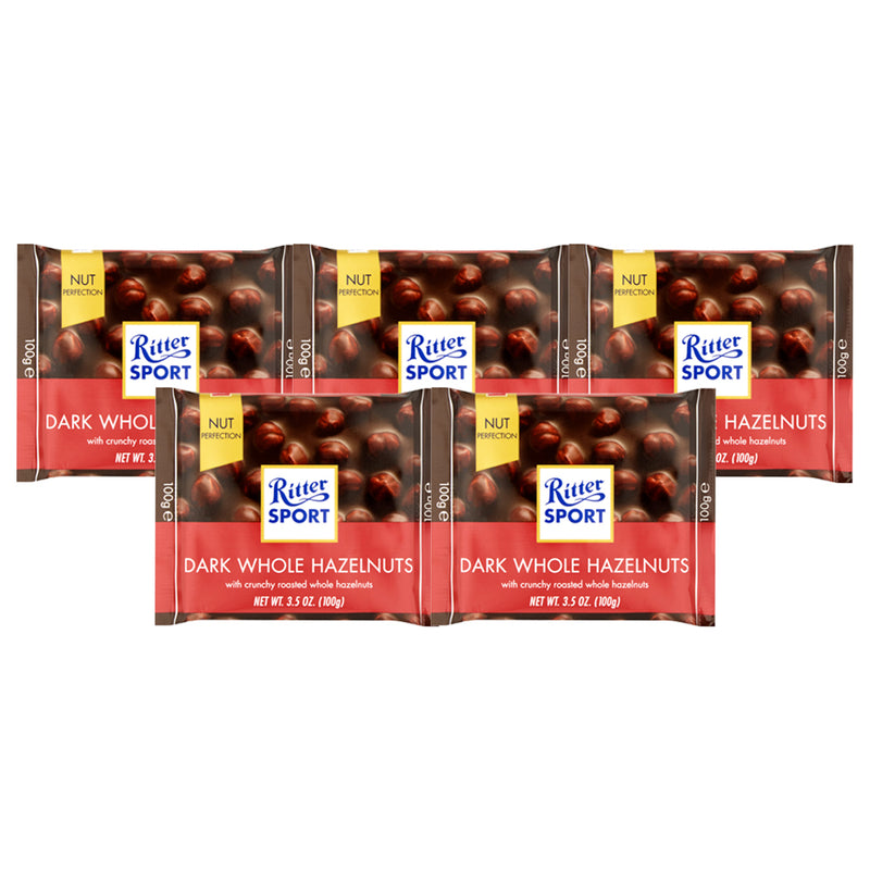 Ritter Sport Dark Choc Whole With Hazelnuts