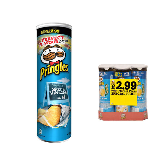 Pringles Large Salt & Vinegar Crisps