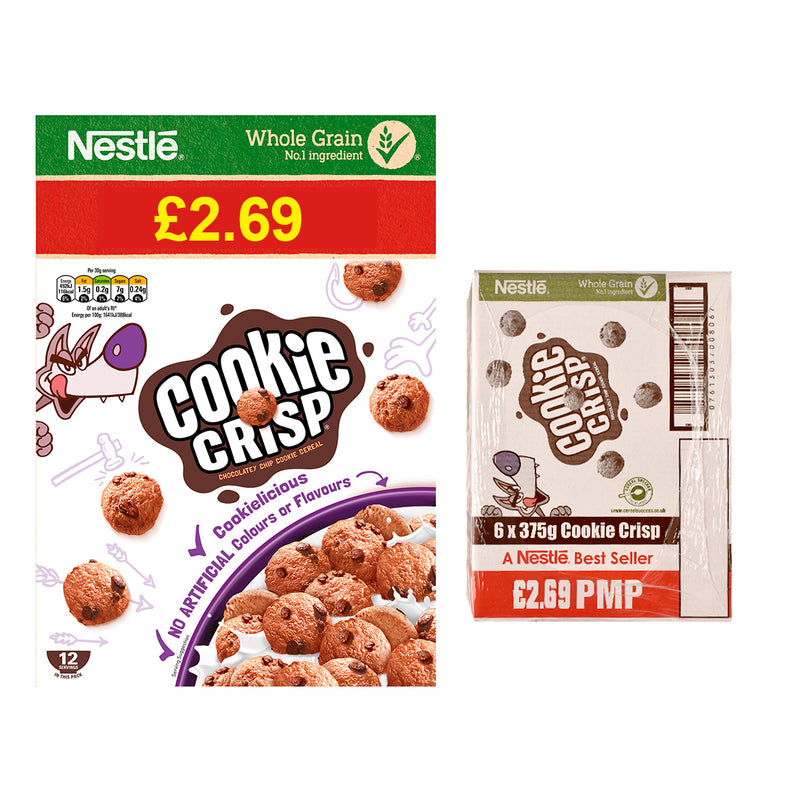 Nestle Cookie Crisp Chocolatey Chip Cookie Cereal
