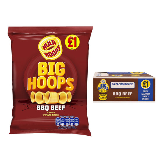 Hula Hoops BBQ Beef Bag