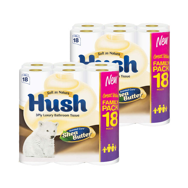 Hush Toilet Tissue Shea Butter 3Ply