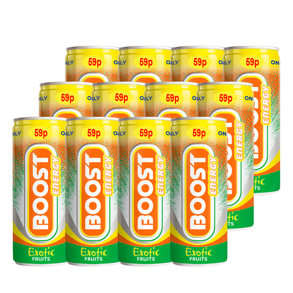 Boost Exotic Fruits Cans