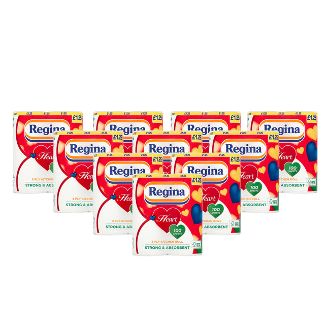 Regina Heart Kitchen Towel 3Ply