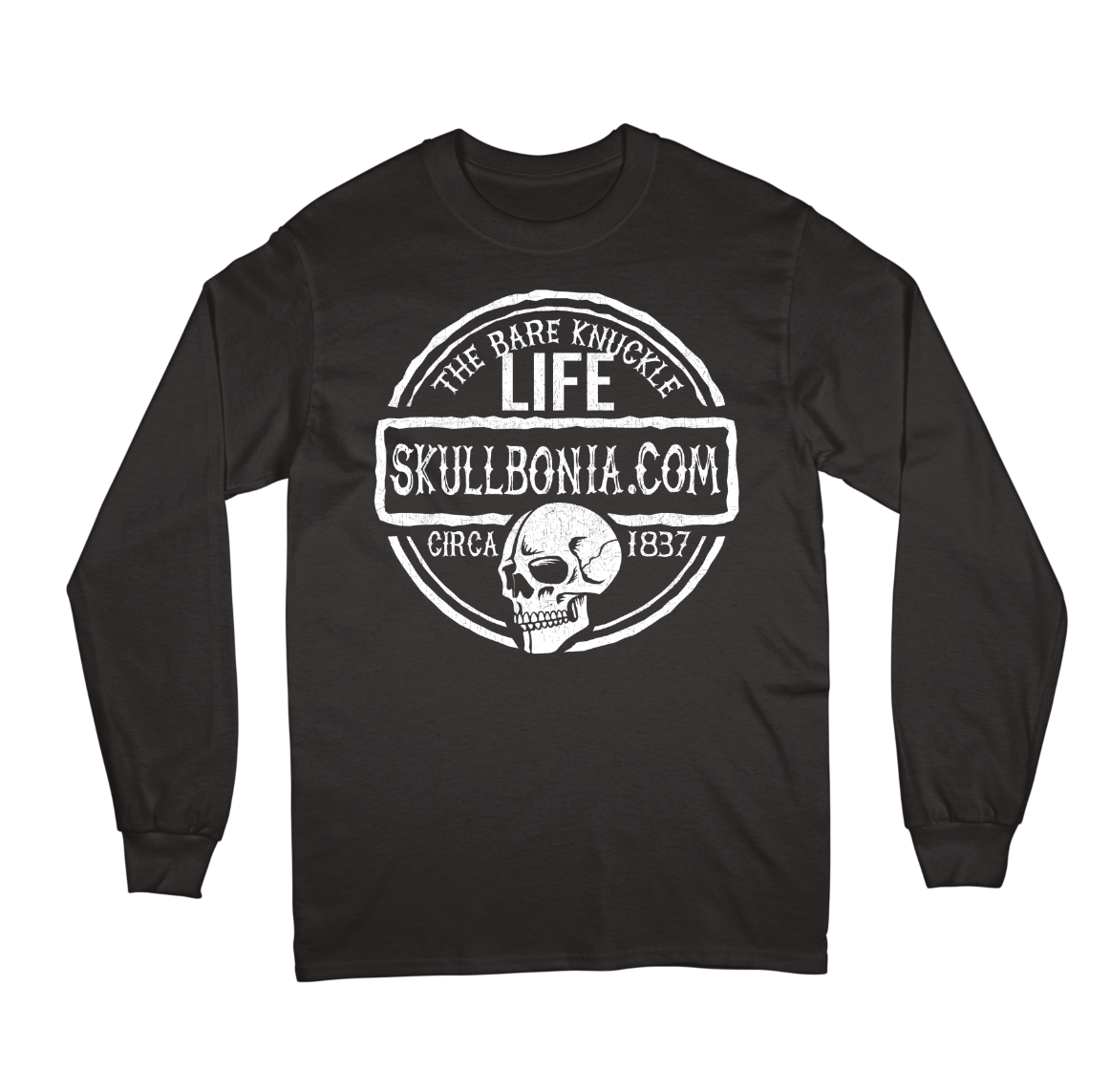 The Bare Knuckle Life Skull Long
