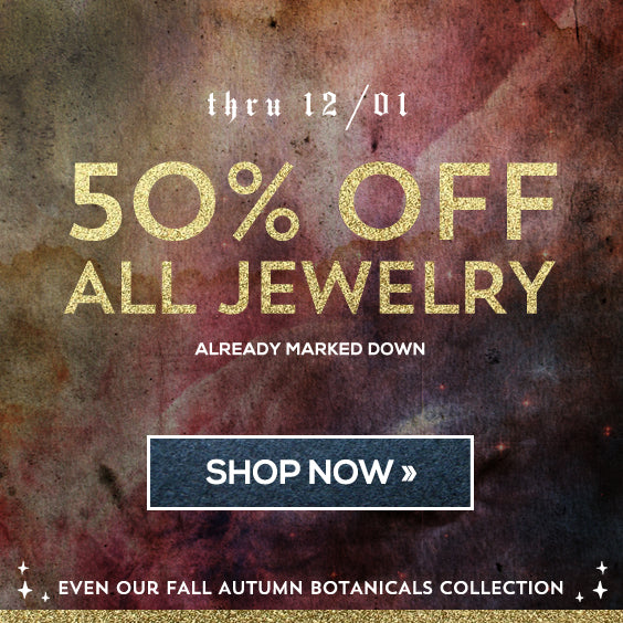 Annual sale 50% off all jewelry in entire store. Free US Shipping.