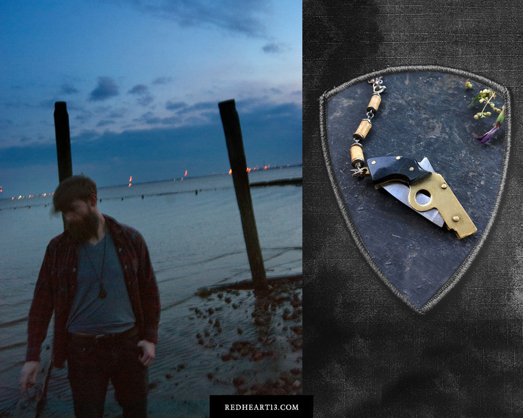The Roland Companion Necklace - Toothpick Knife and Tin Stash Necklace