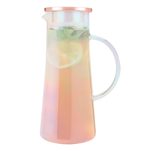 Charlie Iridescent Glass Iced Tea Carafe by Pinky