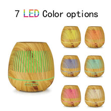 Load image into Gallery viewer, 300ml Essential Oil Aroma Diffuser Wood Hallow
