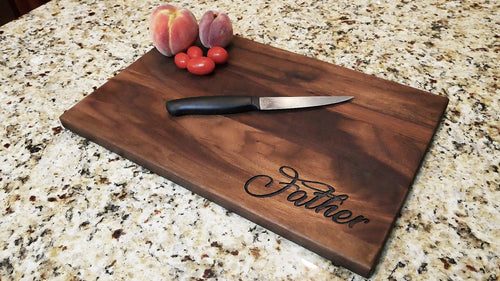 Father - Engraved Walnut Cutting Board - (11