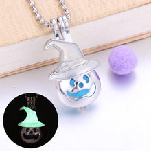 Load image into Gallery viewer, Flower Aroma Diffuser Necklace Lockets Glowing in