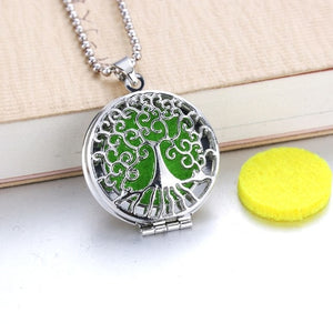 Flower Aroma Diffuser Necklace Open Antique