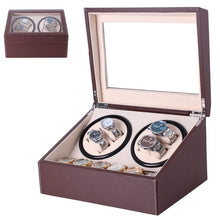 Load image into Gallery viewer, Luxury US Plug Watch Winders Brown PU Leather