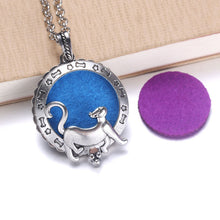 Load image into Gallery viewer, New Aroma Diffuser Necklace Open Silver Lockets