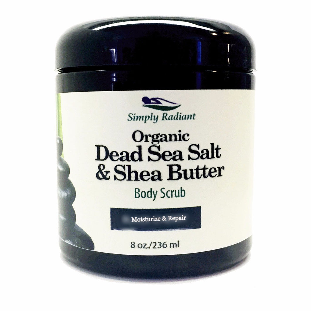 Organic Dead Sea Salt & Shea Butter Body Scrub -