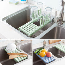 Load image into Gallery viewer, Retractable Sink Drain Rack Kitchen Drain Cup
