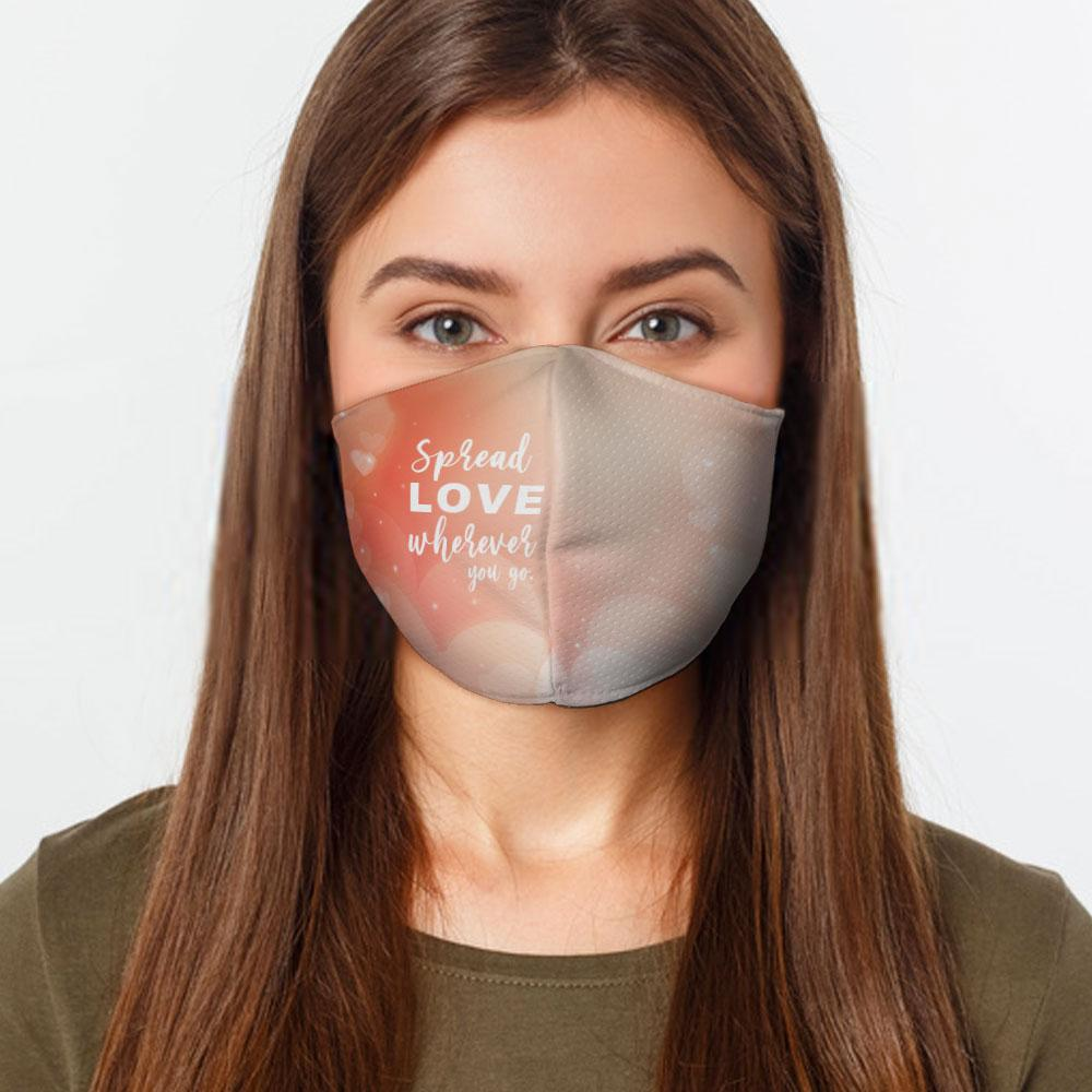 Spread Love Wherever Face Cover