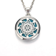Load image into Gallery viewer, Silver heart in heart  Aroma Diffuser Necklace
