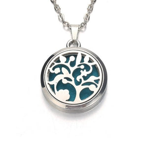 Silver leopard Aroma Diffuser Necklace Perfume