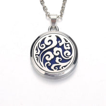 Load image into Gallery viewer, Silver leopard Aroma Diffuser Necklace Perfume
