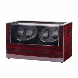 Watch Winders 4 Slots Lacquer Wood Rotate Electric