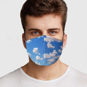 Clouds Face Cover