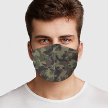 Load image into Gallery viewer, Green Army Camo Face Cover