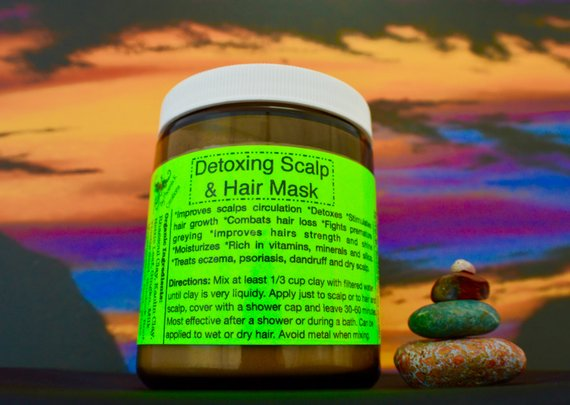 Organic Detoxifying Hair and Scalp Mask- 9oz