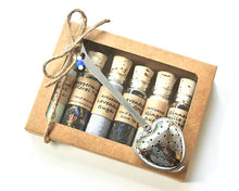 Load image into Gallery viewer, Tea & Sugar Sampler Gift Set, 6 Mini Bottles