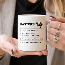 Load image into Gallery viewer, Pastor's Wife - Pastor's Wife Coffee Mug, Pastor's