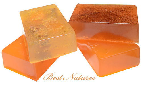 Organic Soap Gift Set: Sea Buckthorn, Sweet Orange-Cinnamon, Red Palm-Carrot, & Black Soap