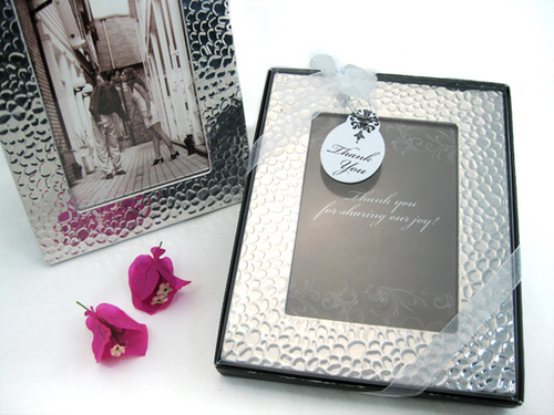 Capture Elegance Photo Frame Favor in Brilliant Hammer Finish Favor