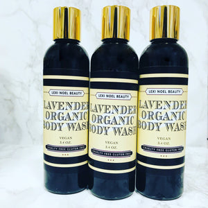 Organic Body Wash Lavender Scent Lexi Noel Beauty
